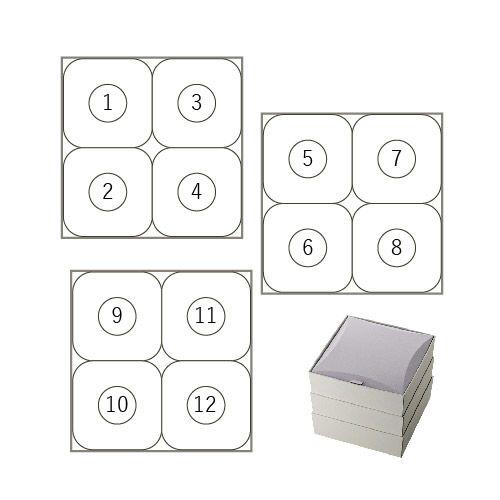 4個入3段詰合せ箱