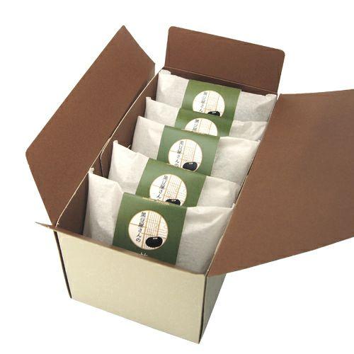 黒豆屋さんの抹茶どらやき5個入りパッケージ